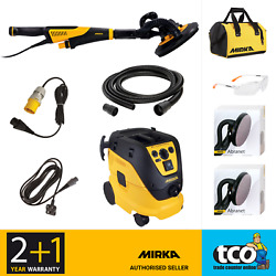 Mirka Leros-s Wall And Ceiling Sander, 1230 M Afc Dust Extractor Or 225mm Abranet