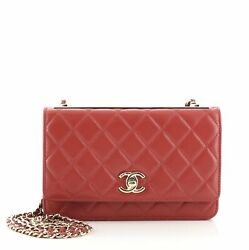 Trendy Cc Wallet On Chain Quilted Lambskin