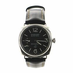 Radiomir Black Seal Manual Watch Stainless Steel And Leather 45