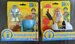 Imaginext Teen Titans Go Pizza Party Starfire And Meat Party Cyborg Set