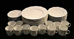 Rosenthal Monbijou All-white Classic China Dinnerware Plates And Cups