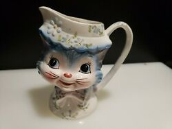 Lefton Rare Miss Priss 6 Milk Pitcher Great, Must See Pics