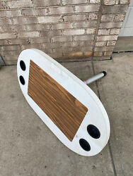 1995 Crownline 27andrsquo Cabin Cruiser Table Top With Cup Holders And Pole