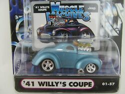1941 Willy's Coupe Muscle Machines 164 Scale Die Cast 01-57 71151 Funline