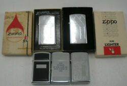 Vintage Lot Of 5 Zippo Lighters Never Used