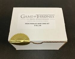 Game Of Thrones Iron Anniversary Iron Metal Complete Set 1-99 Xx/99 - Qty