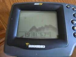 Humminbird 400tx Fish/depth Finder - Head Unit Only - Works Tested