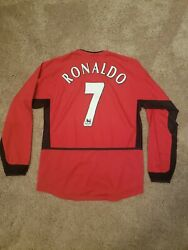 Ronaldo Manchester United 02-04 Home Jersey Size Small