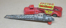 Wyandotte Fire Truck With Extension Ladder Old Toy For Parts