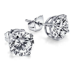 7350 Solitaire Diamond Earrings 1.09 Carat Ctw White Gold Stud Si1 51498287