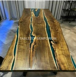Living Room Coffee Table Dining Table. Acacia Epoxy Resin Office Meeting Tables