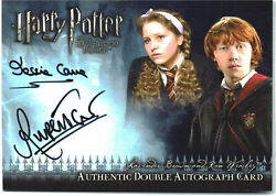 Harry Potter Half Blood Upd Dual Auto Card Rupert Grint Ron And Jessie Cave