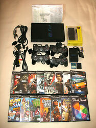 Ps2 Console Bundle With All Hookups/15 Games/+ Extras Preowned/console Vg