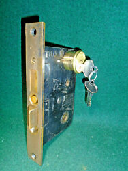 Sargent 6745 Entry Mortise Lock W/cylinder And Keys 2 1/2 Bs 15315