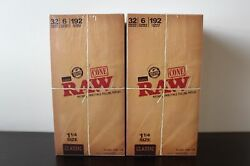 264 Packs Of 6 Each Classic Raw Rolling Paper Cones Natural Pre-rolled 1 1/4