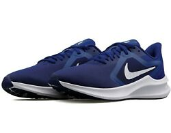 Nike Downshifter 10 Running Shoes Blue Black White Ci9981-401 Menand039s New