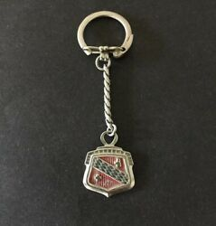Vintage Buick Keychain Metal Fob Key Chain Ring Authentic Original 1949 Logo