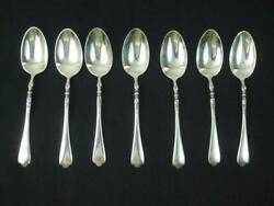 Antique 1915 Sterling Silver 7 Coffee Tea Spoons Monogrammed Betty 5.5 Long