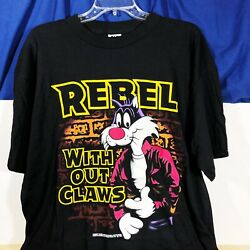 Vintage 1992 Sylvester The Cat Rebel Without Claws Shirt Xl Usa Looney Tunes