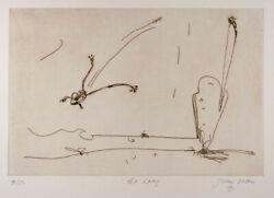 John Olsen The Leap - Original Signed Etching Rare Edge Of The Void Limited Ed