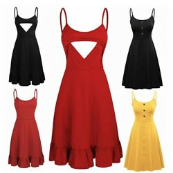 Pregnant Women Sleeveless Dress Maternity Nursing Solid Color Casual Clothes