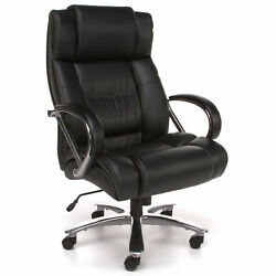 Ofm 810-lx Avenger Series Big And Tall Executive High Back Chair Leather Black