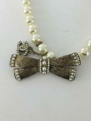 Ribbon Choker White Fashion Necklace 1050 Accessories From Japan