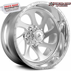 American Force Shiv Ck05 Concave Polished 30x16 Truck Wheel 8 Lug Set Of 4