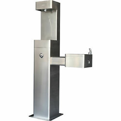 Outdoor Bottle Filling Station And Drinking Fountain, Stainless Steel