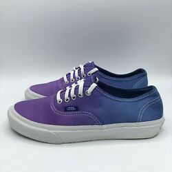 Vans Off the Wall Blue Purple Ombre Canvas Women#x27;s 7.5 Sneakers