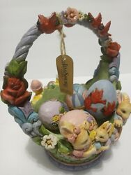 Jim Shore Heartwood Creek Easter Basket With 4 Eggs Easter Cheer Found Here