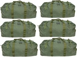 Lot Of 6 Improved Real Military Duffel Bag, Tactical Deployment Flight And Sea Bag