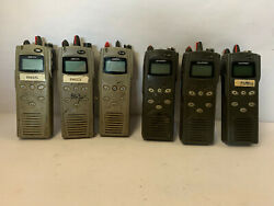 Lot Of 6 - Macom P5100 Model Mahm-s8rxx Radio For Parts / Not Tested