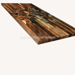 Wooden Acacia Epoxy Dining Center Table Living Room Handmade Furniture Home Déco