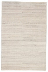 Jaipur Living Hermitage Hand-knotted Trellis Ivory/ Silver Area Rug 8and0396x11and0396
