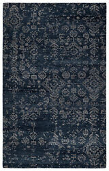 Jaipur Living Azuma Hand-knotted Tribal Dark Blue/ Light Gray Area Rug 8and039x10and039