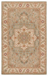 Jaipur Living Orleans Handmade Medallion Beige/ Blue Area Rug 12and039x15and039