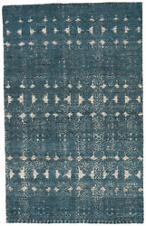 Jaipur Living Abelle Hand-knotted Medallion Teal/ White Area Rug 9and039x13and039