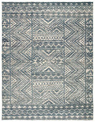 Jaipur Living Prentice Hand-knotted Geometric Blue/ Ivory Area Rug 8and039x11and039