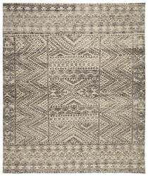 Jaipur Living Prentice Hand-knotted Geometric Dark Gray/ Taupe Area Rug 9and039x13and039