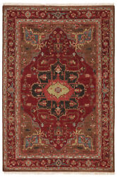 Artemis By Jaipur Living York Hand-knotted Medallion Red/ Brown Area Rug 6'x9'