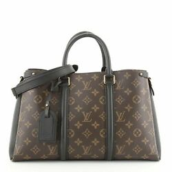 Louis Vuitton Soufflot Tote Monogram Canvas With Leather Mm