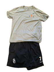 Usc Trojans Nike Football Shirt Shorts Conditioning Team Issued 7 Large