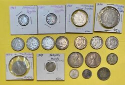 World Coins Lot 19 Mixed All With Silver Us Netherlands Italy Switzerland More