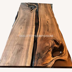 Wooden Working Epoxy Resin River Dining Conference Top Table Handmade Interior