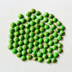 50 Pcs Natural Green Copper Turquoise Round Cabochon 14mm Loose Gemstone Rings