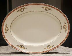 Rare Vintage J And G Meakin - Sol - Large Oval Serving Platter - Art Deco Style