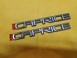 1991 And 1992 Chevy Caprice Emblems 1 Pair Of 2 Nos Gm Parts New Old Gm Stock Oem