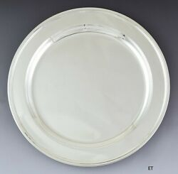 Impressive Antique And Co Sterling Silver 13 Round Charger Plate Platter