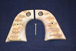 Ruger New Vaquero Premium Grade Rams Horn / Stag Grips